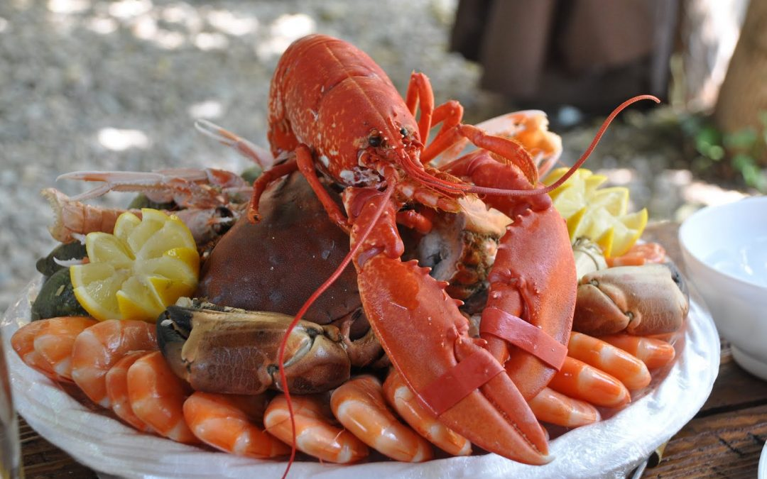 Manipular alimentos junto al mar